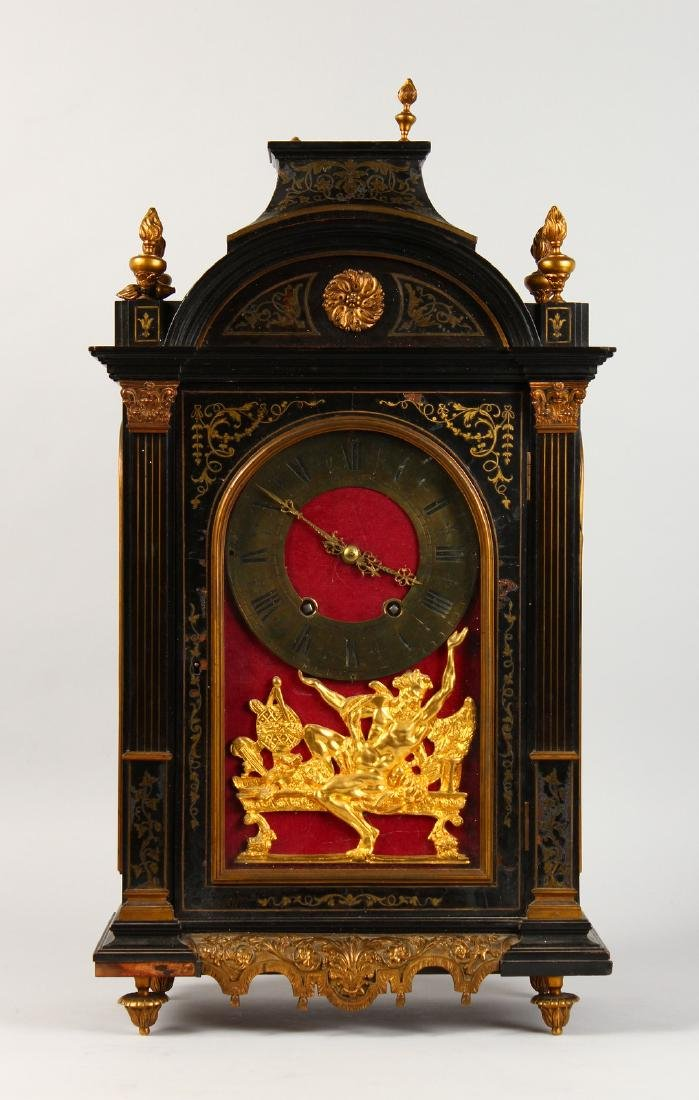 AN 18TH CENTURY FRENCH INLAID BRACKET CLOCK, with - 10