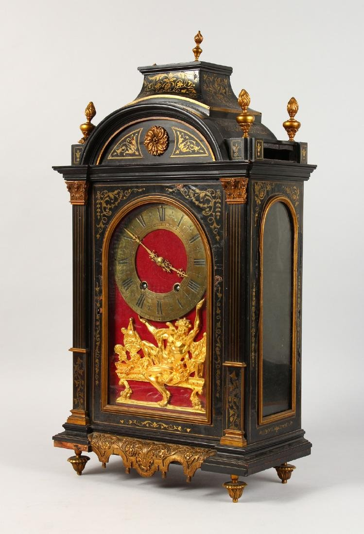 AN 18TH CENTURY FRENCH INLAID BRACKET CLOCK, with