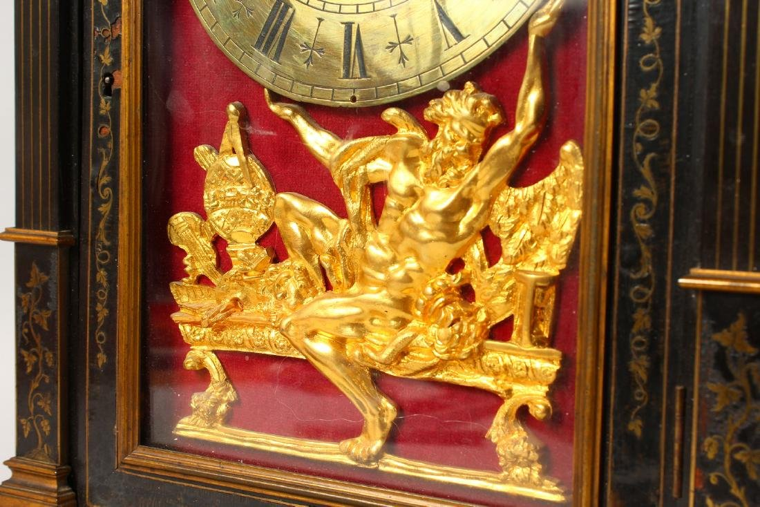 AN 18TH CENTURY FRENCH INLAID BRACKET CLOCK, with - 3