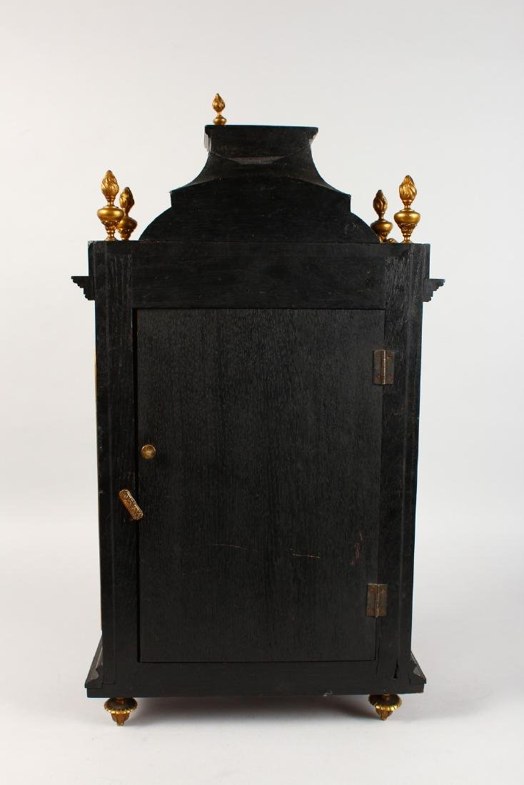 AN 18TH CENTURY FRENCH INLAID BRACKET CLOCK, with - 6