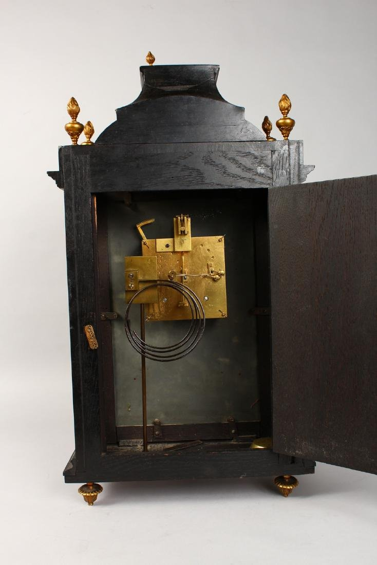 AN 18TH CENTURY FRENCH INLAID BRACKET CLOCK, with - 8