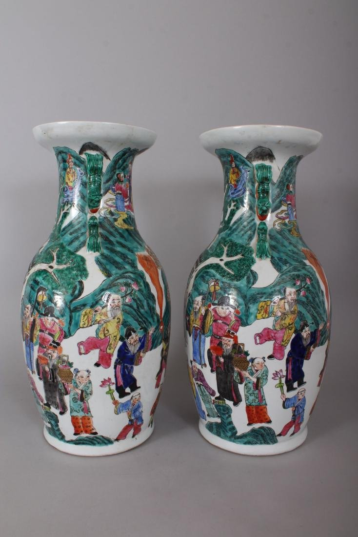A GOOD PAIR OF LARGE CHINESE VASES, with dragon - 4