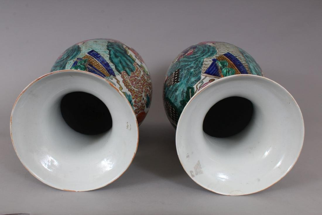 A GOOD PAIR OF LARGE CHINESE VASES, with dragon - 6