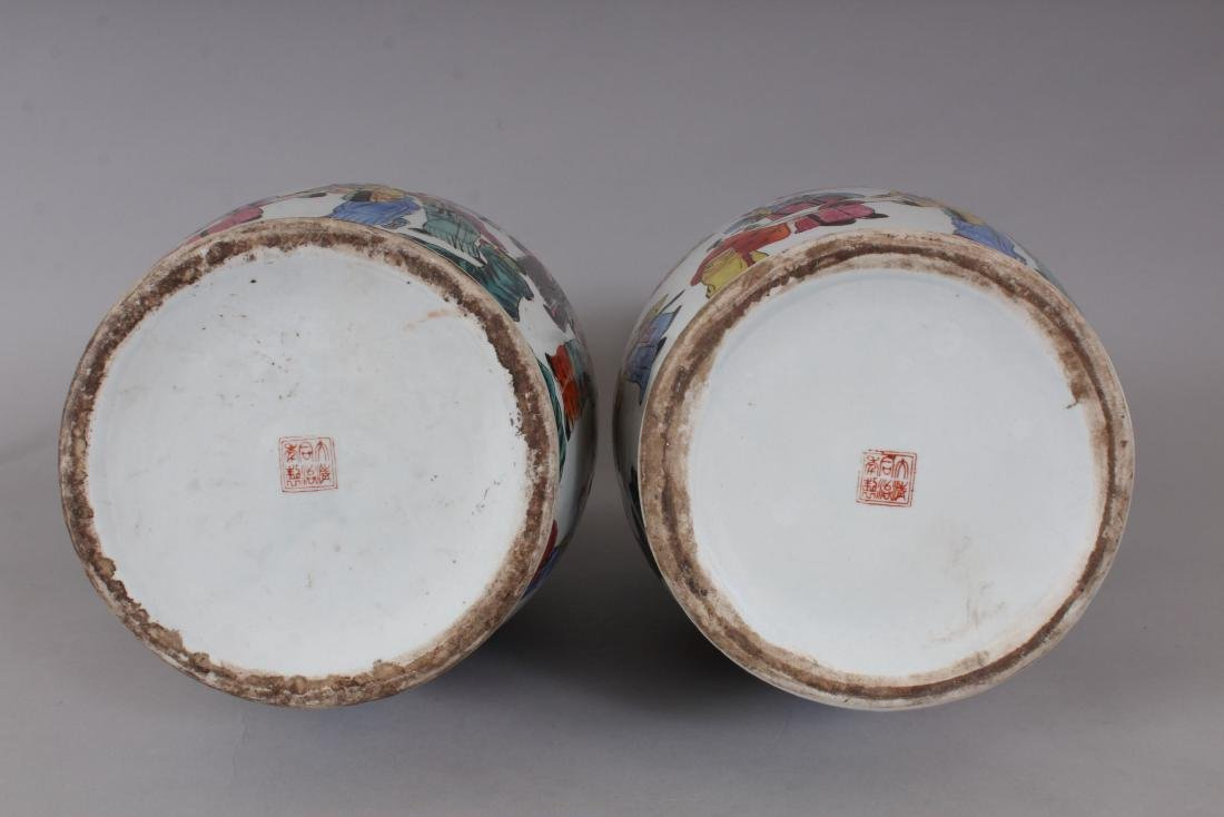 A GOOD PAIR OF LARGE CHINESE VASES, with dragon - 7