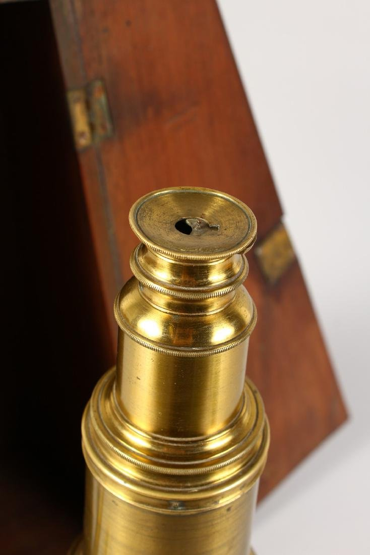 AN 18TH CENTURY BRASS CULPEPER MICROSCOPE by LINCOLN, - 2