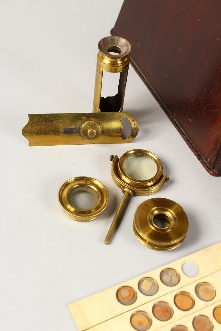 AN 18TH CENTURY BRASS CULPEPER MICROSCOPE by LINCOLN, - 4