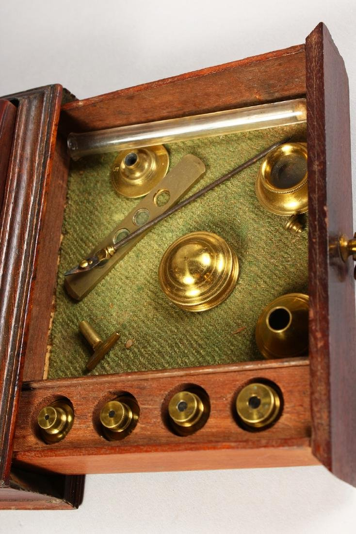 AN 18TH CENTURY BRASS CULPEPER MICROSCOPE by LINCOLN, - 6