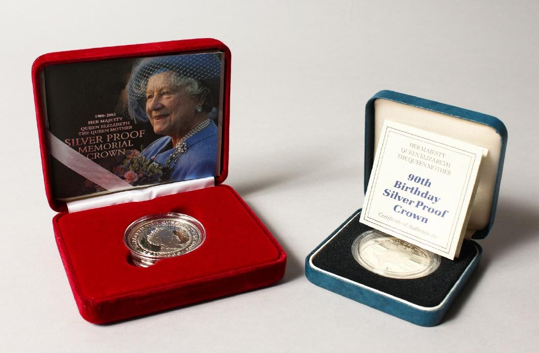 A SILVER PROOF MEMORIAL CROWN 1900-2002, The Queen