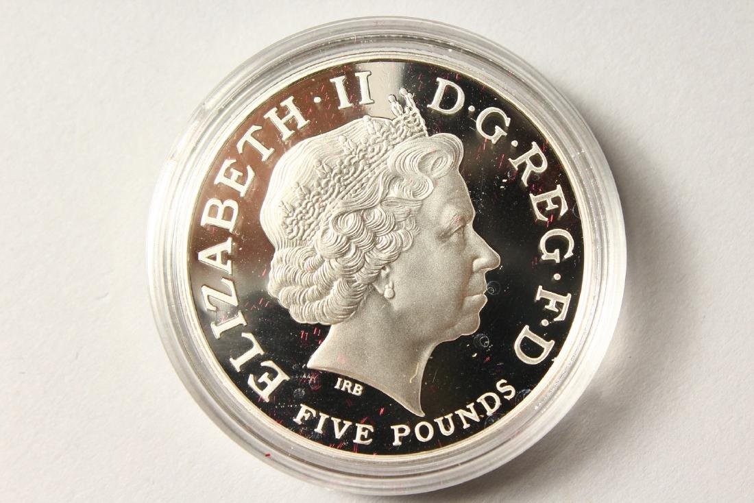 A SILVER PROOF MEMORIAL CROWN 1900-2002, The Queen - 4