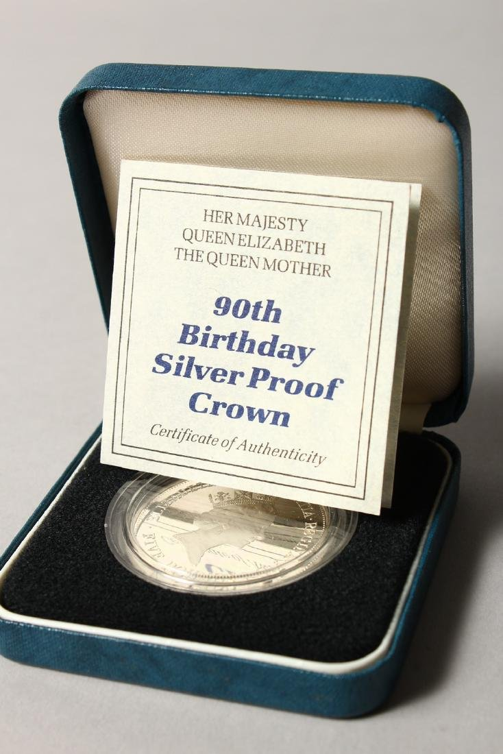 A SILVER PROOF MEMORIAL CROWN 1900-2002, The Queen - 5