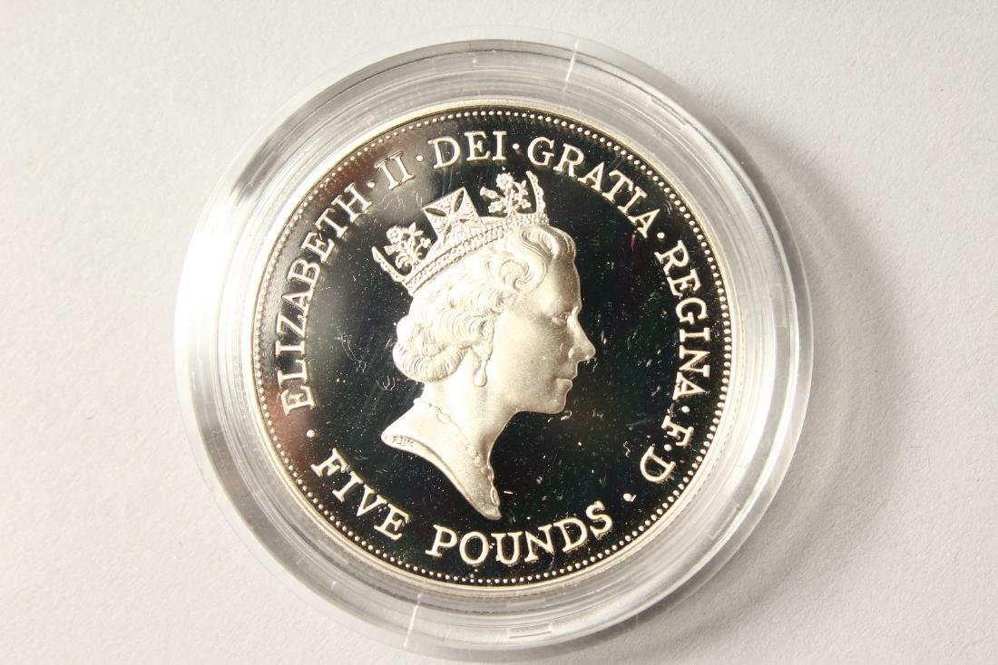 A SILVER PROOF MEMORIAL CROWN 1900-2002, The Queen - 6
