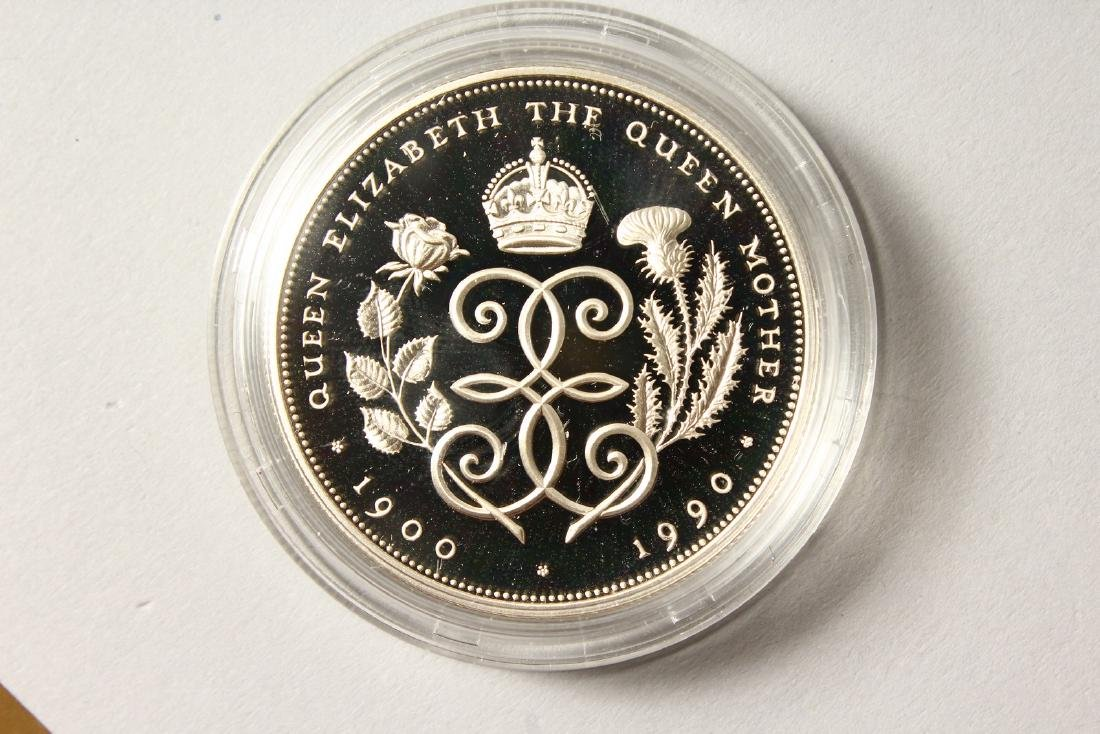 A SILVER PROOF MEMORIAL CROWN 1900-2002, The Queen - 7