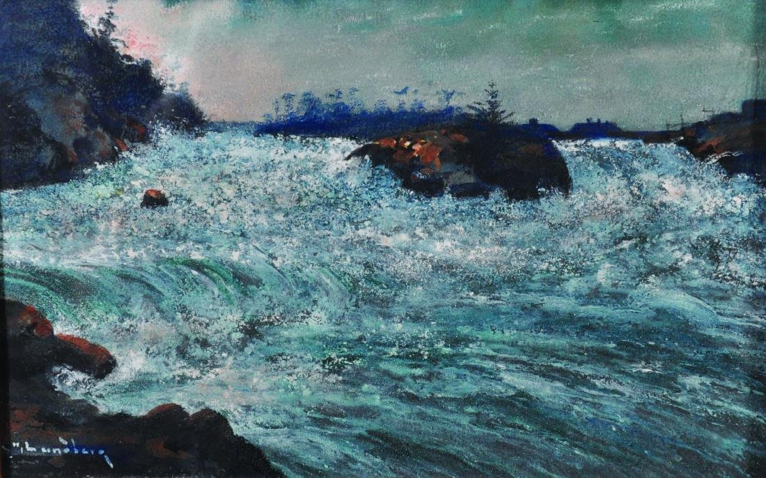 H...Luneberg (20th Century) Continental. Water Rapids,