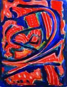 Theodor Kern (1900-1969) Austrian. Untitled, Abstract