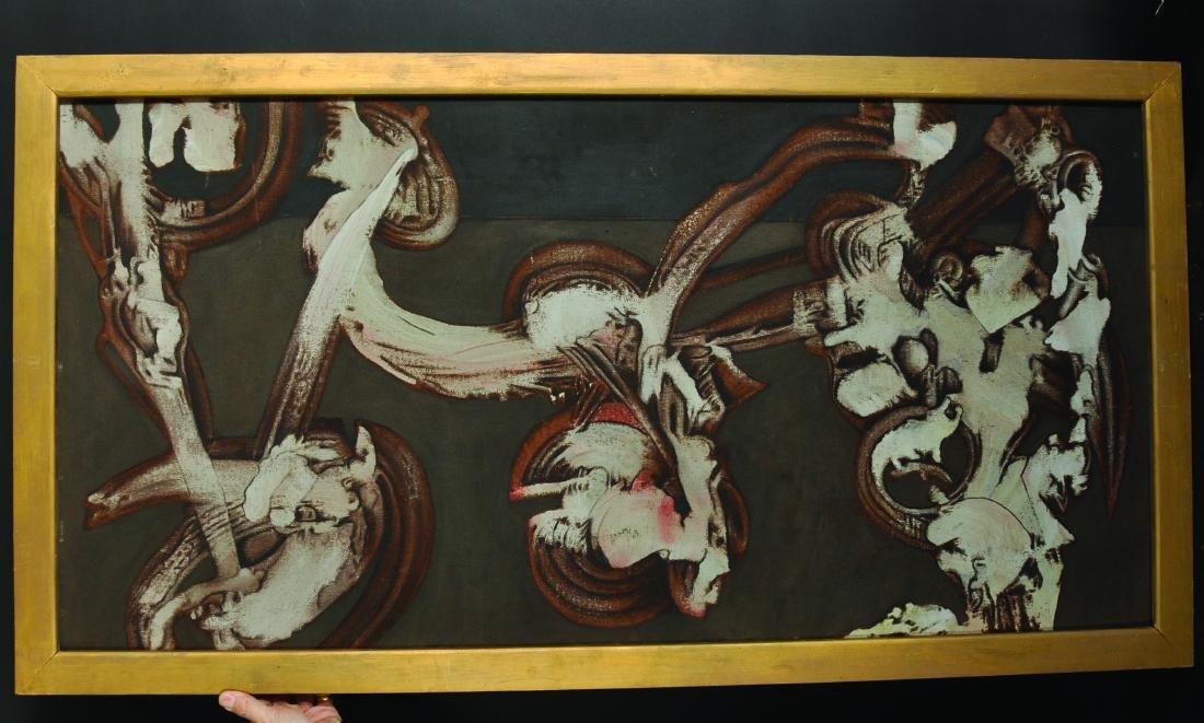 20th Century English School. Untitled, Oil on Board, - 3