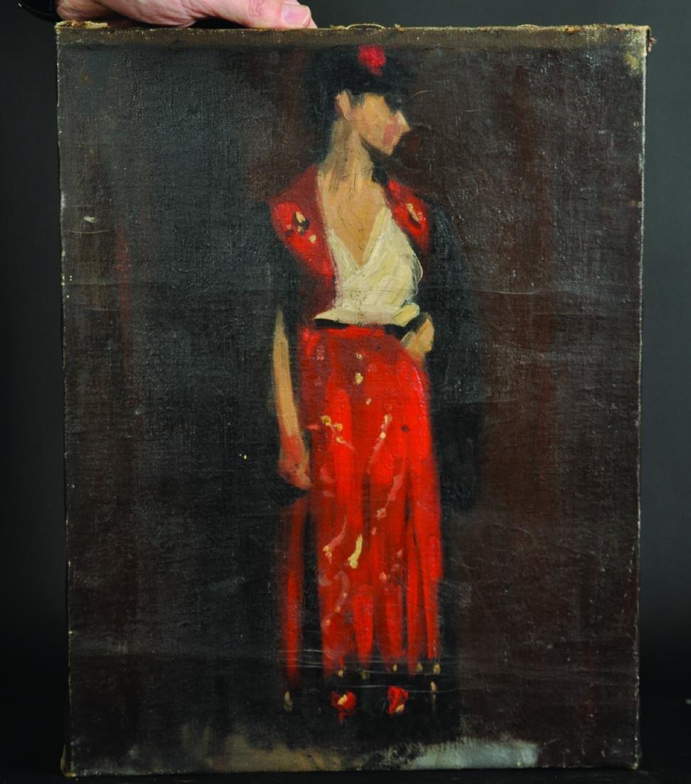20th Century English School. A Flamenco Dancer, Oil on - 3
