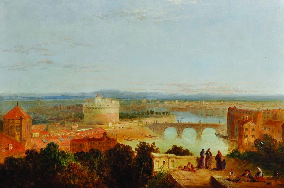 Circle of Edward Lear (1812-1888) British. 'Castel