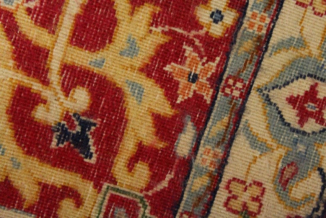 A PERSIAN RUNNER RUG, with central ground, on a rose - 6