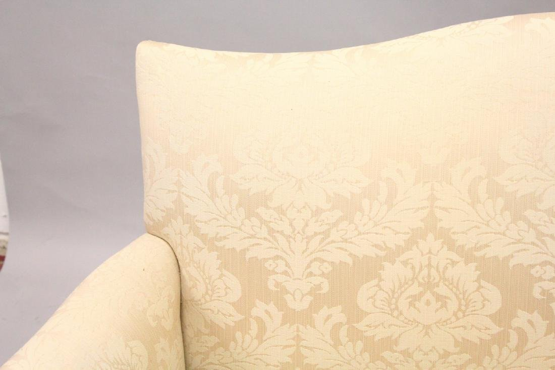A GEORGE III DESIGN MAHOGANY FRAMED TWO-SEATER SETTEE, - 2