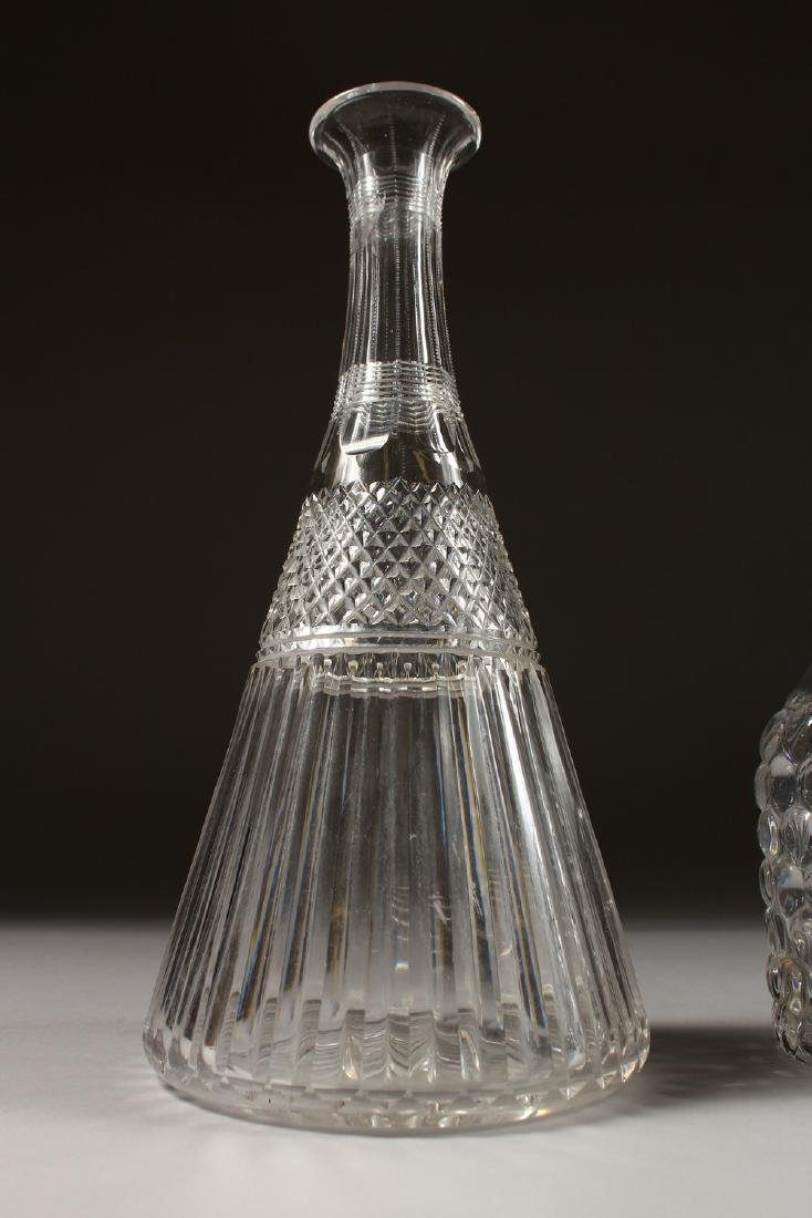 FOUR VARIOUS DECANTERS. - 2