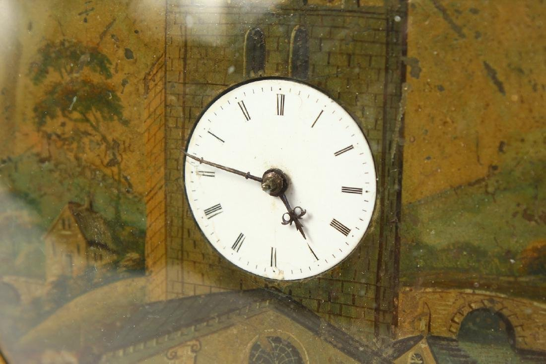 A GEORGIAN CIRCULAR SEDAN CLOCK by JOSEPH GLENNY, - 2