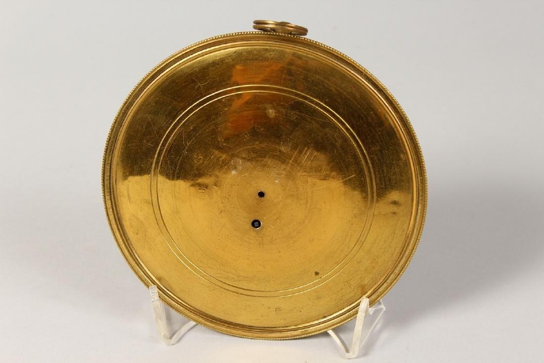 A GEORGIAN CIRCULAR SEDAN CLOCK by JOSEPH GLENNY, - 3