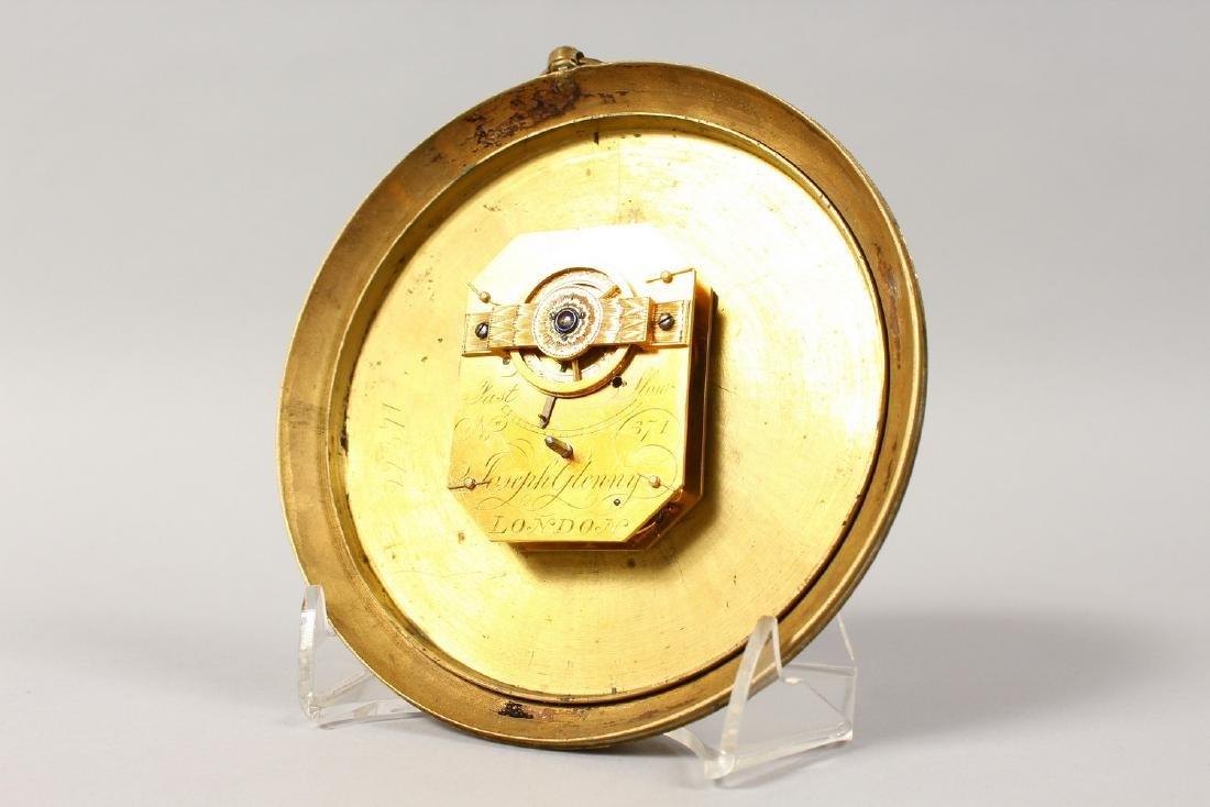 A GEORGIAN CIRCULAR SEDAN CLOCK by JOSEPH GLENNY, - 4