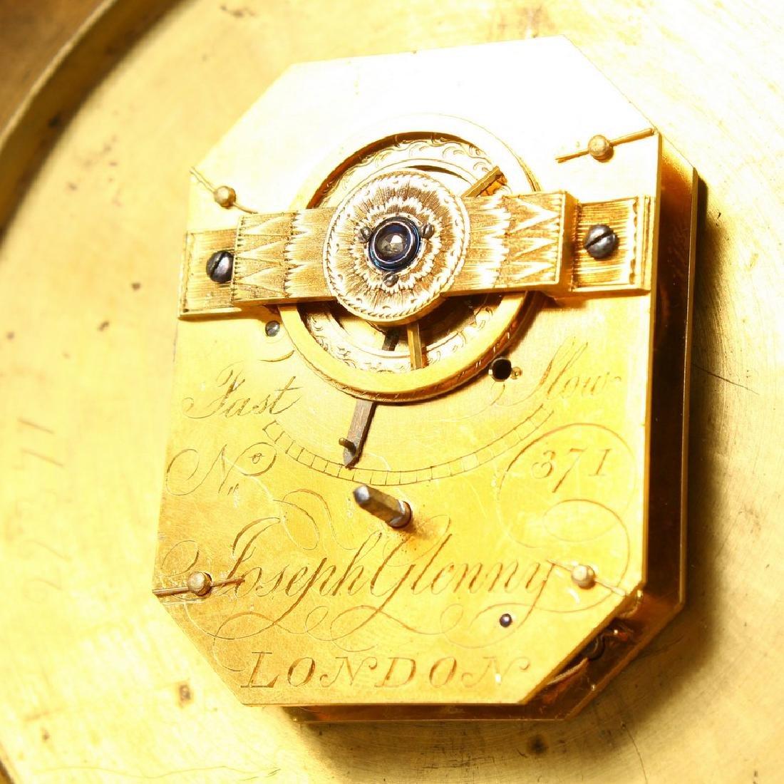 A GEORGIAN CIRCULAR SEDAN CLOCK by JOSEPH GLENNY, - 5