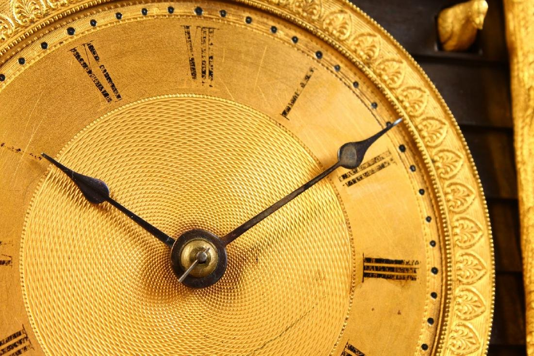 A VERY GOOD BRONZE AND ORMOLU CLOCK, the movement - 2