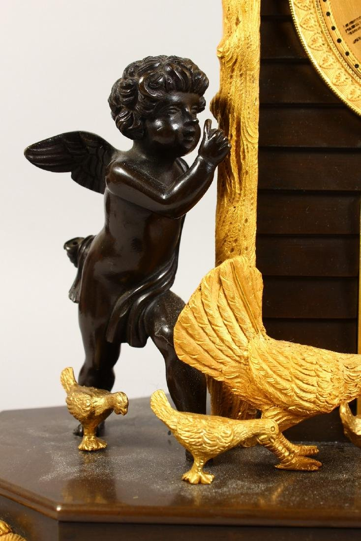 A VERY GOOD BRONZE AND ORMOLU CLOCK, the movement - 4