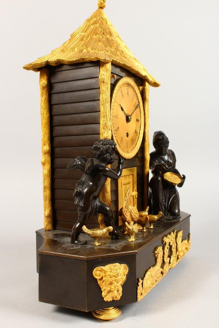 A VERY GOOD BRONZE AND ORMOLU CLOCK, the movement - 7