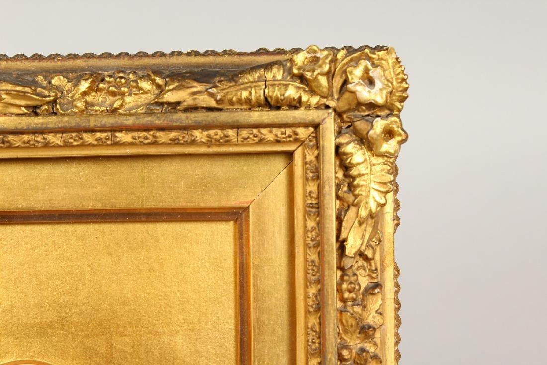 A GOOD GILT FRAMED DOUBLE PORTRAIT, of two gentlemen, - 4