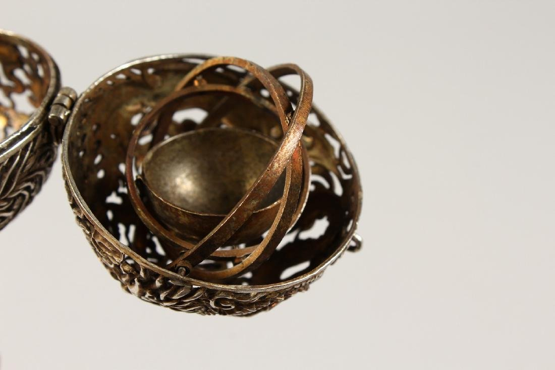 A CHINESE PIERCED BALL TRAVELLING CENSER. - 3