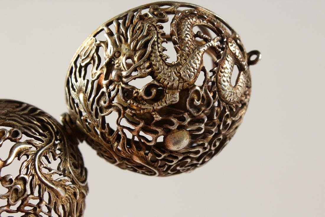 A CHINESE PIERCED BALL TRAVELLING CENSER. - 5
