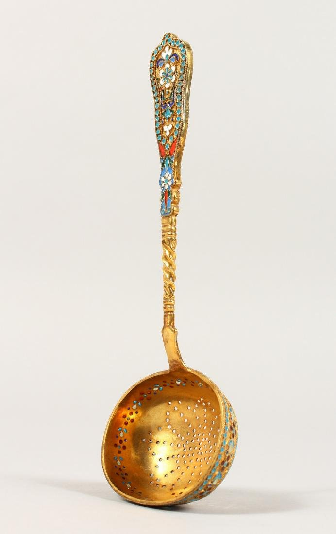 """A GOOD RUSSIAN """"FABERGE"""" STYLE SILVER GILT AND ENAMEL"""