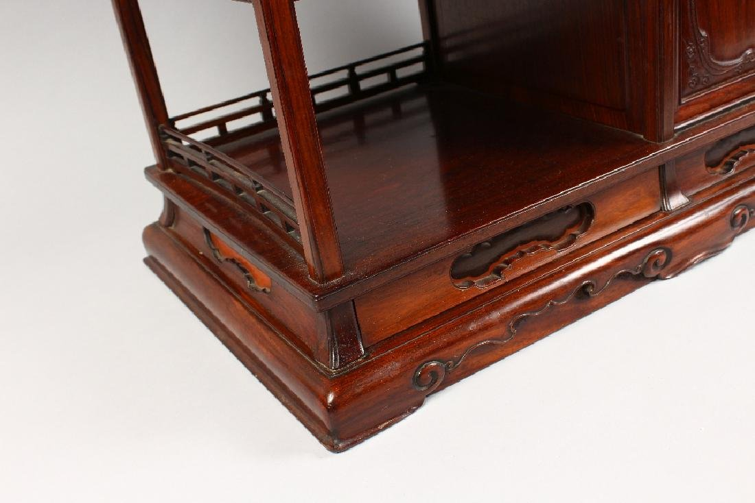 A GOOD CHINESE HARDWOOD TABLE CABINET, possibly - 3