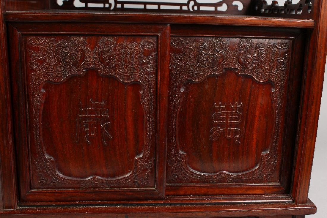 A GOOD CHINESE HARDWOOD TABLE CABINET, possibly - 5