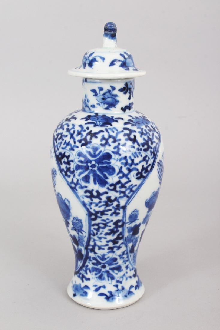 A 19TH CENTURY CHINESE BLUE & WHITE PORCELAIN VASE & - 2