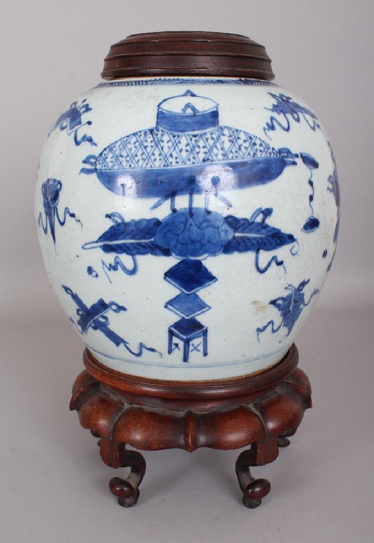 A 19TH CENTURY CHINESE BLUE & WHITE PROVINCIAL