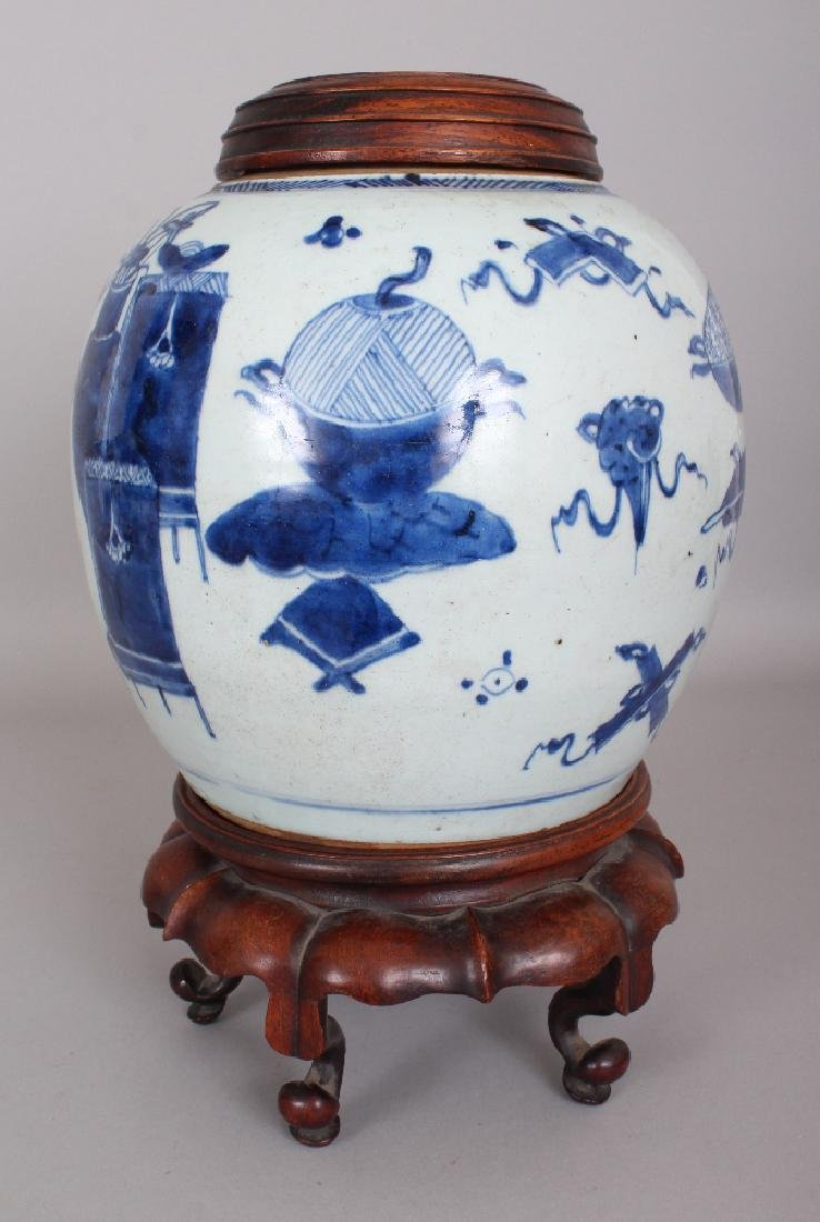 A 19TH CENTURY CHINESE BLUE & WHITE PROVINCIAL - 2
