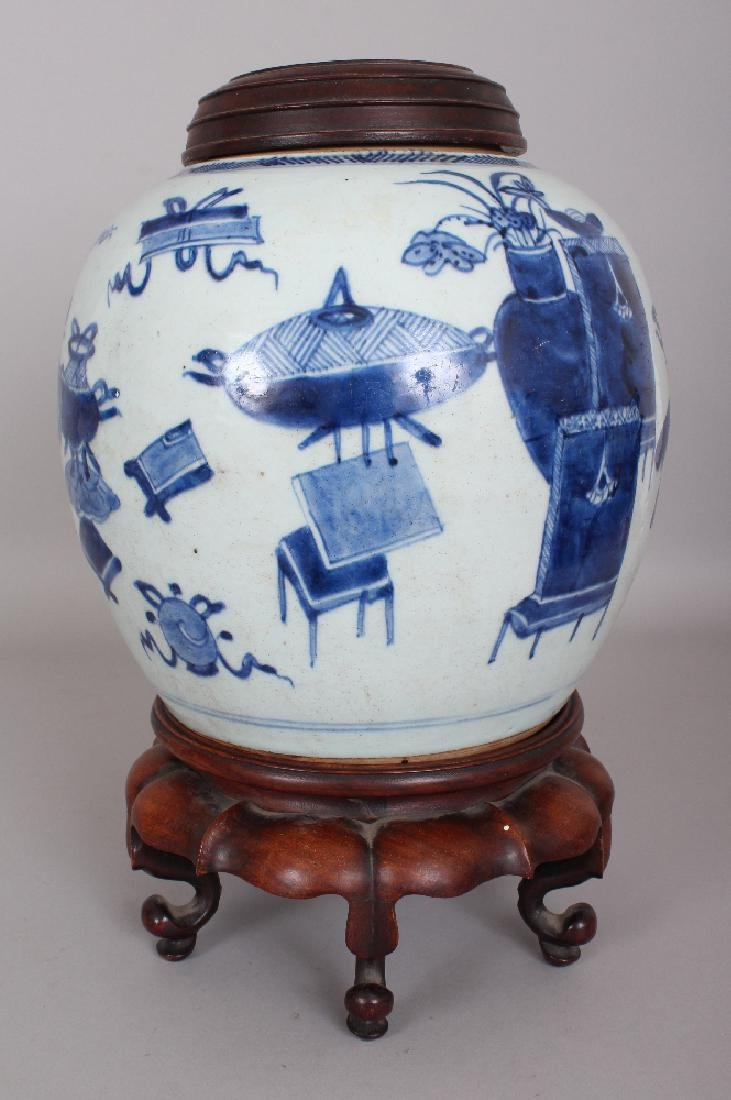 A 19TH CENTURY CHINESE BLUE & WHITE PROVINCIAL - 3