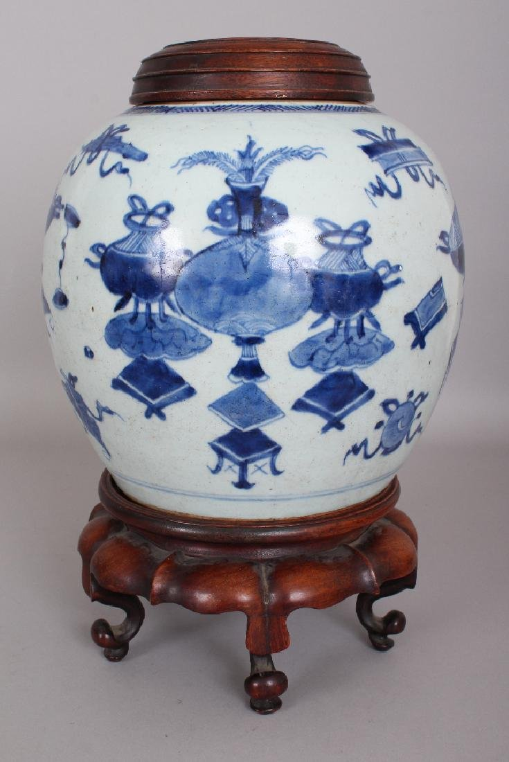 A 19TH CENTURY CHINESE BLUE & WHITE PROVINCIAL - 4