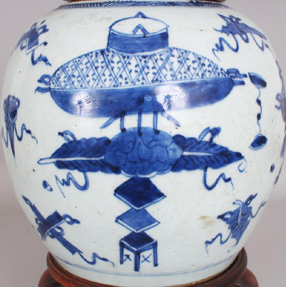 A 19TH CENTURY CHINESE BLUE & WHITE PROVINCIAL - 5