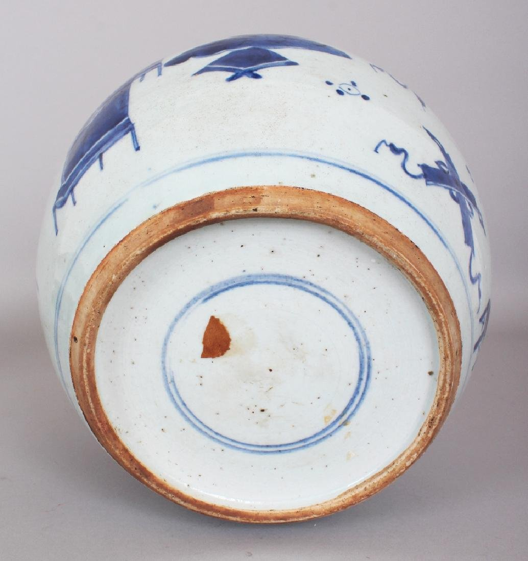 A 19TH CENTURY CHINESE BLUE & WHITE PROVINCIAL - 7