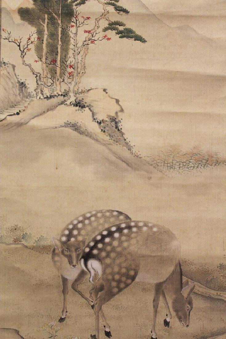 A GOOD QUALITY CHINESE HANGING SCROLL PAINTING ON SILK, - 3