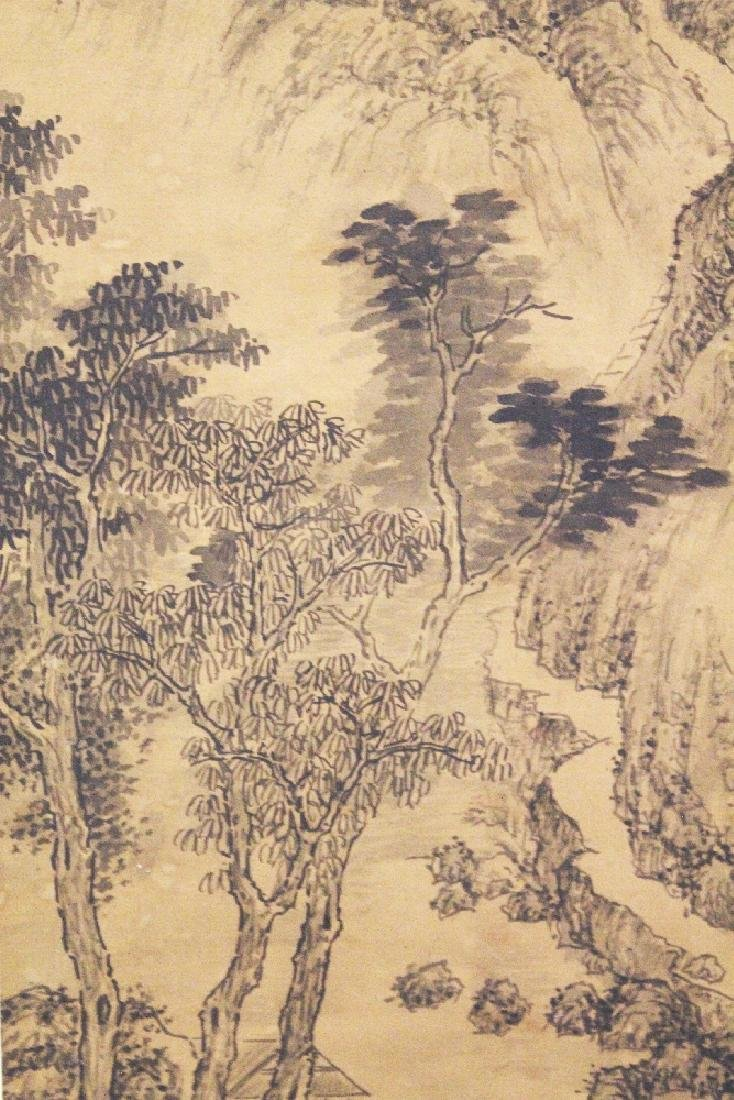 A CHINESE HANGING SILK SCROLL PICTURE, depicting a - 3