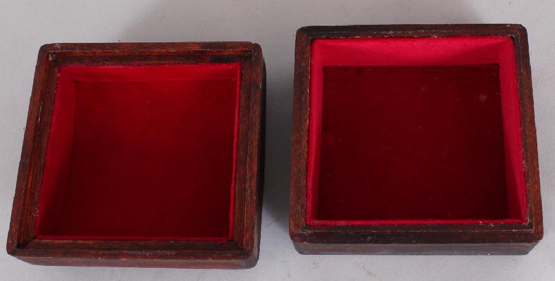 A WOOD BOX & DOMED COVER INSET WITH AN 18TH CENTURY - 4