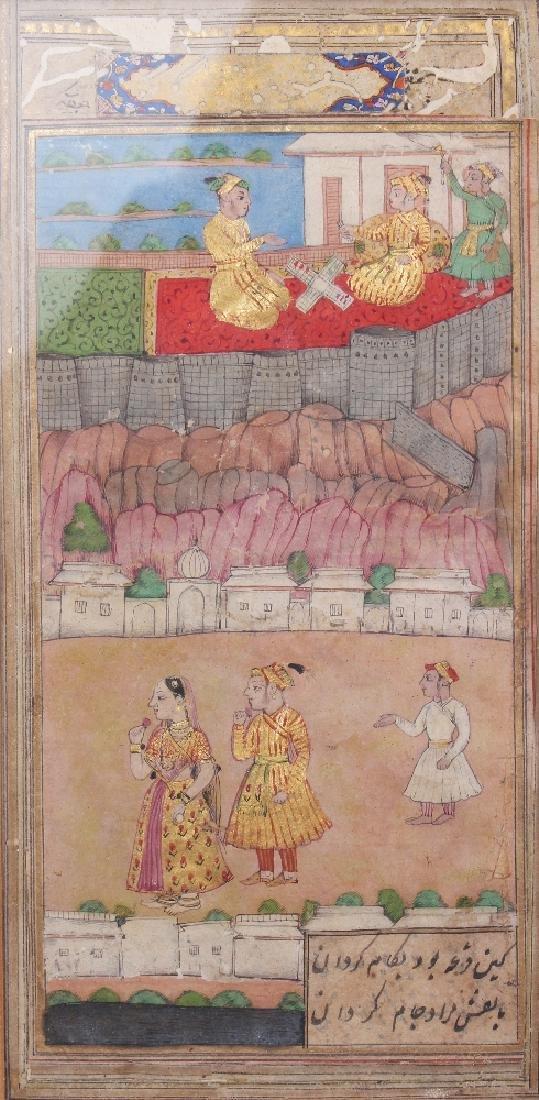 Courtly Scenes, Delhi or Kashmir, 19th century, gouache