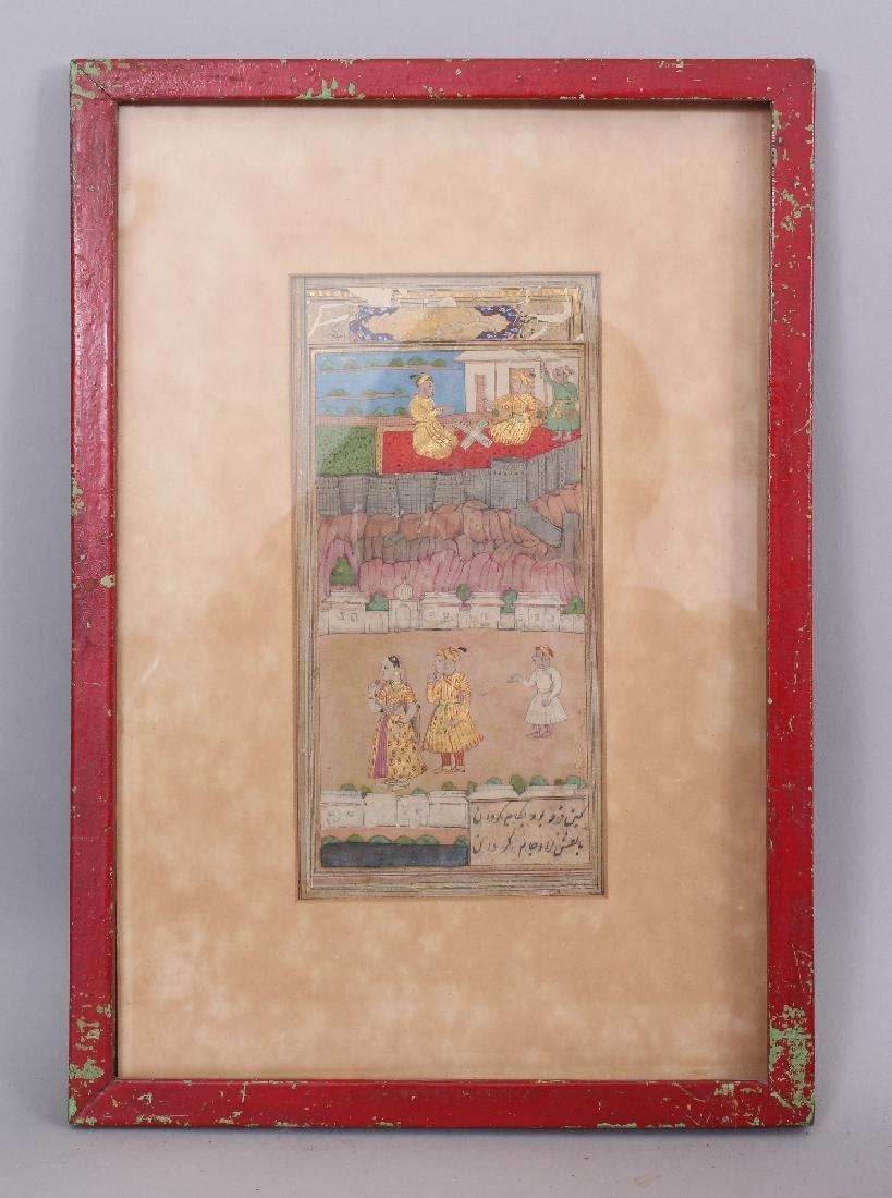 Courtly Scenes, Delhi or Kashmir, 19th century, gouache - 2