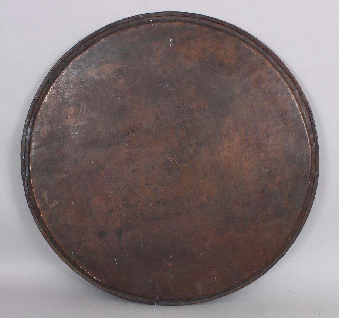 A Tinned Copper Tray, Central Asia, early 20th century, - 3